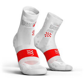 Compressport Pro Racing V3.0 Ultralight Run High Calcetines, white